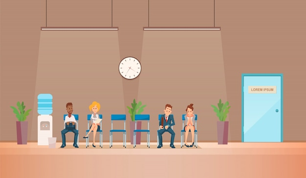 Entretien d'embauche et recrutement. illustration vectorielle