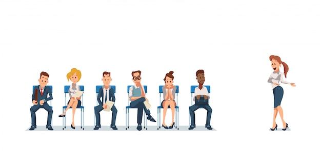Entretien d'embauche et recrutement. ressources humaines