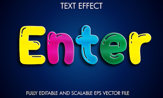 Entrez l'effet de texte coloré