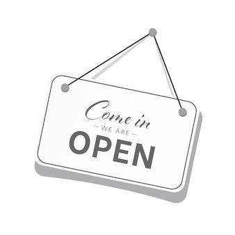 Entrez, nous sommes ouverts