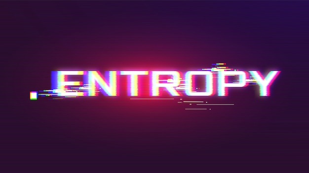 Entropy glitch vector avec couleurs vives