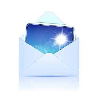 Enveloppe avec carte papier