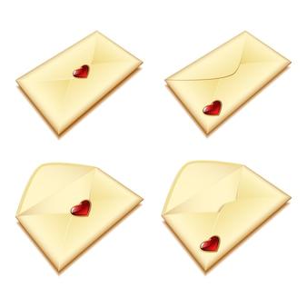 Enveloppe avec un coeur
