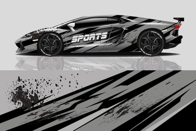 Enveloppe de décalcomanie de voiture de sport