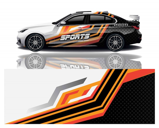 Enveloppe de décalque de sport automobile