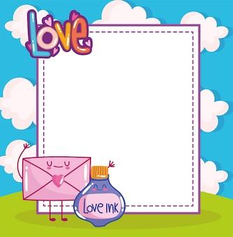 Enveloppe de message d'amour