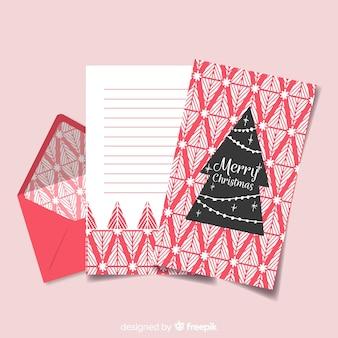 Enveloppe de noël rouge créative