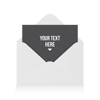 Enveloppe papier ouverte, message, courrier, email.