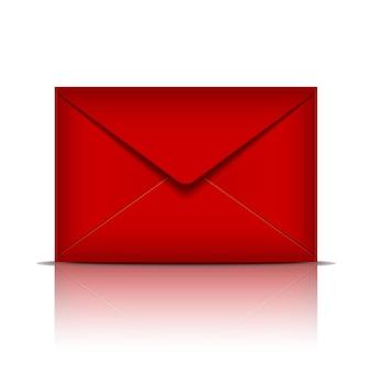 Enveloppe rouge. illustration vectorielle