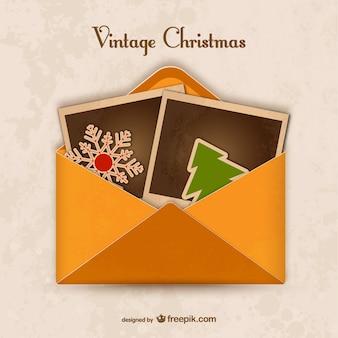 Enveloppe vintage pour noël