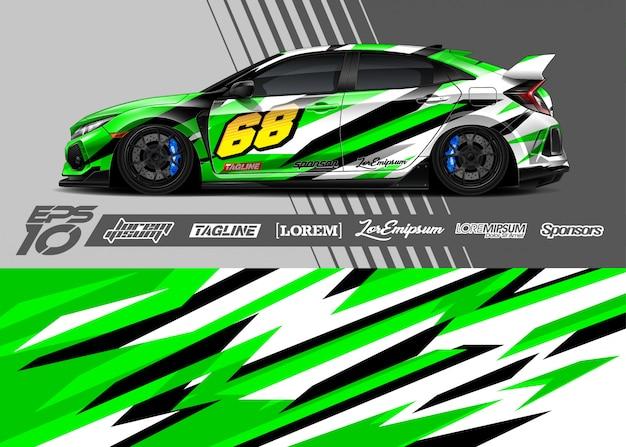 Enveloppe de voiture de sport design abstrait de course