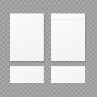 Enveloppes sur fond transparent