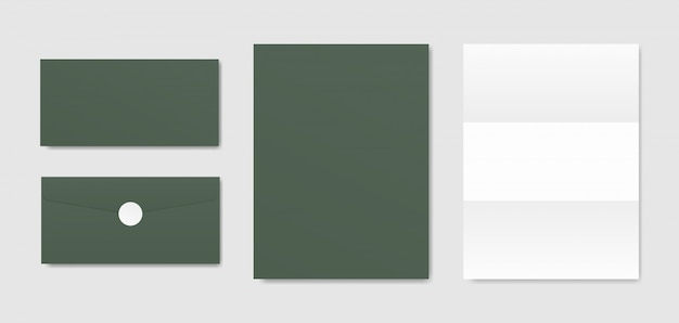 Enveloppes et papiers. scène de maquette de papeterie de marque. conception d'identité d'entreprise.