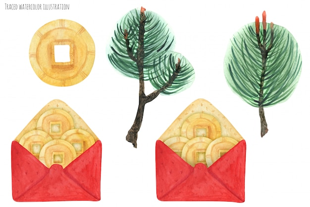 Enveloppes rouges chinoises