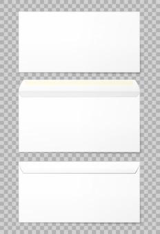 Enveloppes vierges placées dans 3 vues