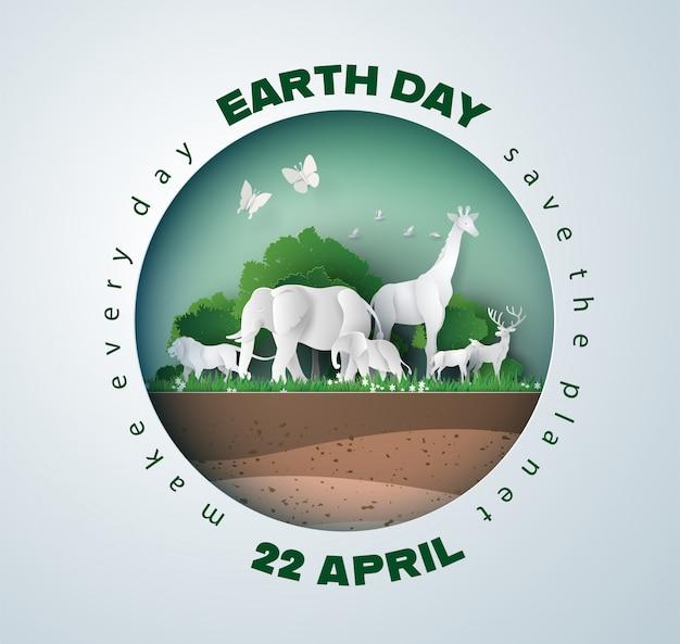 Environnement mondial et concept de la journée de la terre,