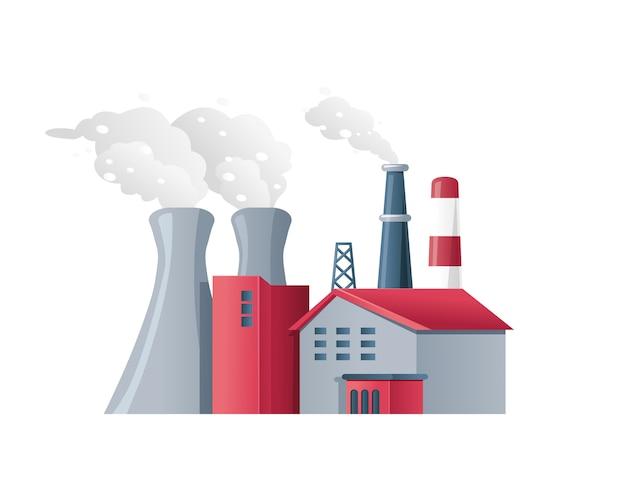Environnement pollué par la pollution atmosphérique en usine