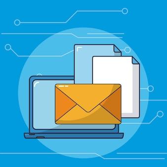Envoi de courriels à partir d'un ordinateur portable