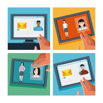 Envoyer un e-mail à des contacts de la tablette