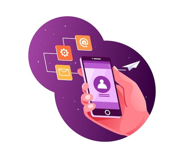 Envoyer des e-mails à l'aide d'un smartphone