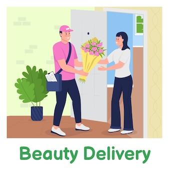 Envoyer des fleurs à la maquette de publication sur les réseaux sociaux