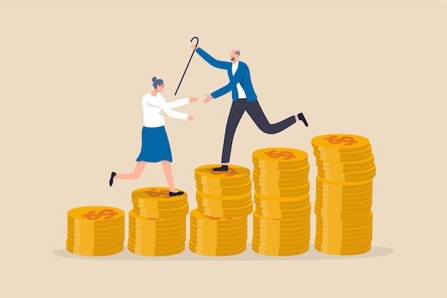 Épargne retraite ou fonds de pension d'investissement, planification de la richesse et des dépenses pour vivre après la retraite concept