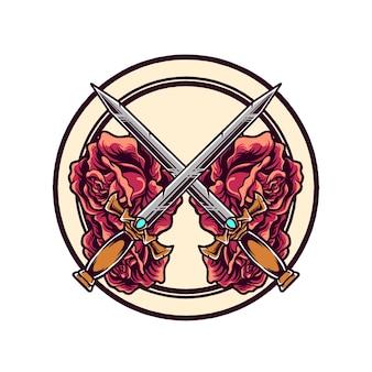 Épée et rose