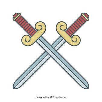Épées croisées