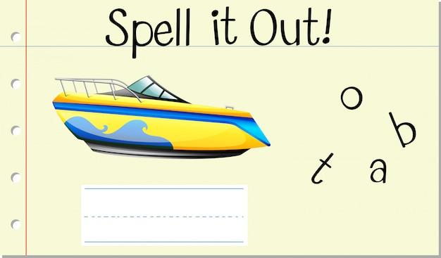 Épeler le bateau
