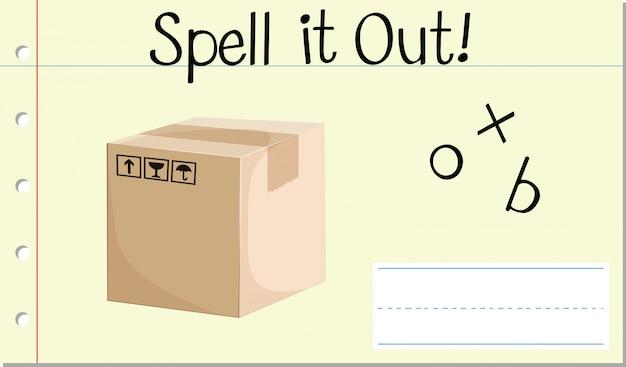Épeler la boîte de mots anglais