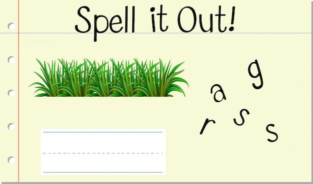 Épeler l'herbe