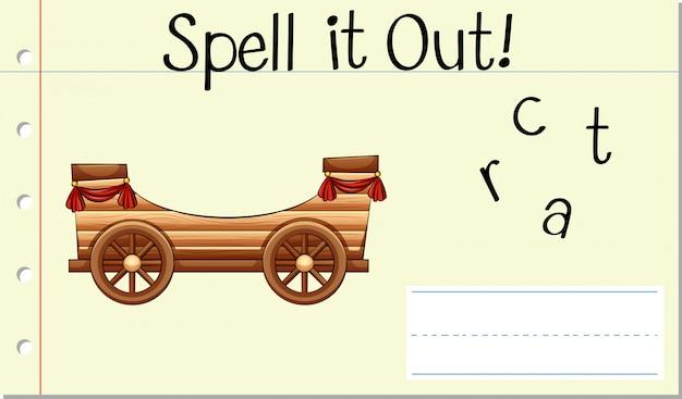 Épeler le mot anglais cart