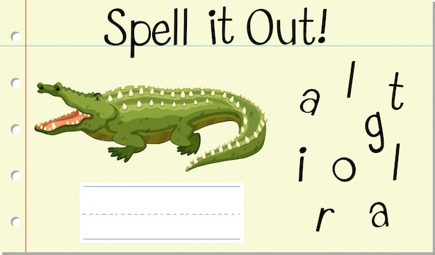 Épeler mot anglais crocodile