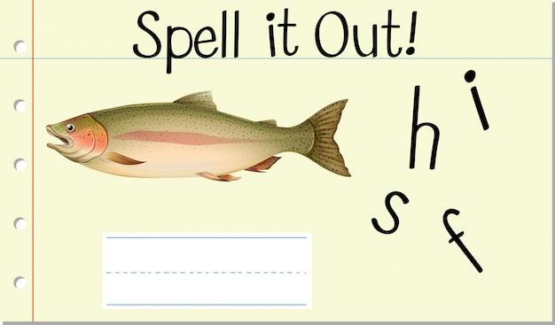 Épeler le mot anglais fish