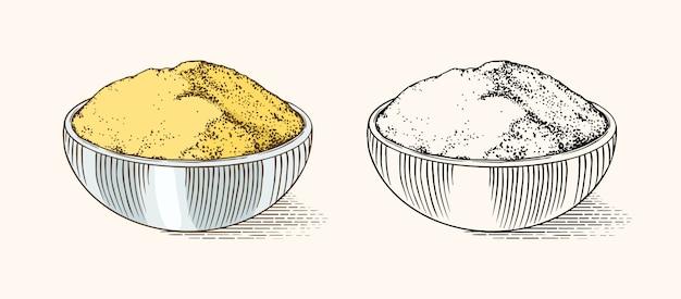 Épice de racine de gingembre, rhizome haché, ingrédient végétal frais.