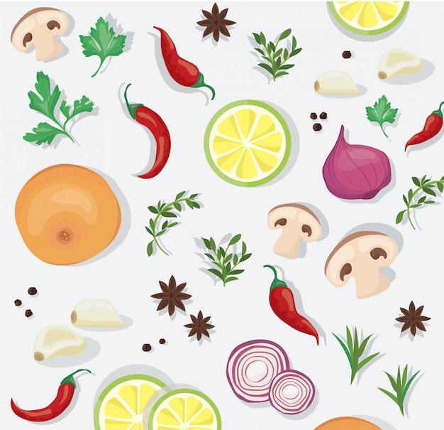Epices et légumes