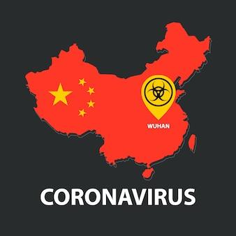 Épidémie de coronavirus en chine, carte