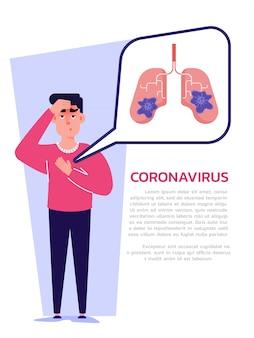 Épidémie de coronavirus. covid-19 infecté et symptômes.