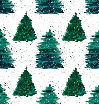 Épinettes vertes de noël hiver avec jet vert