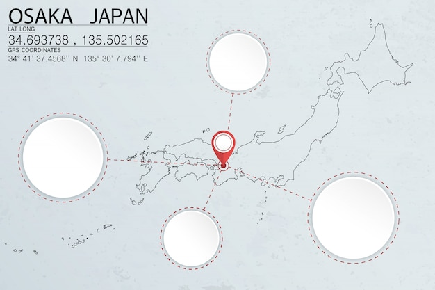 Épingler à osaka au japon avec espace circulaire