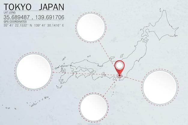 Épingler à tokyo au japon avec espace circulaire
