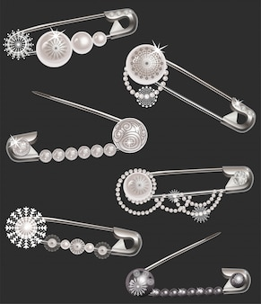 Épingles avec perles