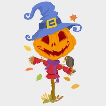 Épouvantail d'halloween effrayant