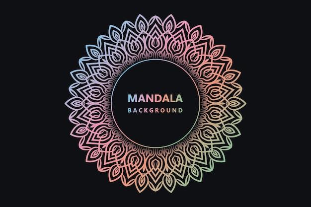 Eps de fond de mandala coloré