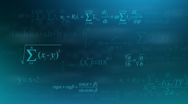 Équation mathématique, formules mathématiques et arithmétiques.