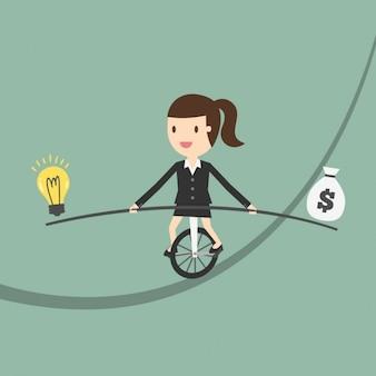 L'équilibre entre l'argent et des idées