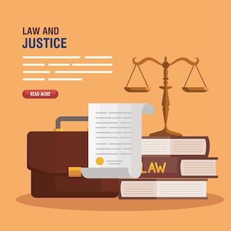 Équilibre avec les icônes de la justice