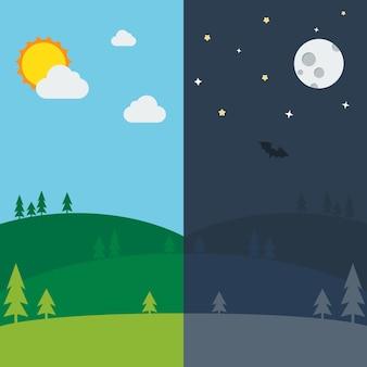 Equinox demi-journée demi-nuit.