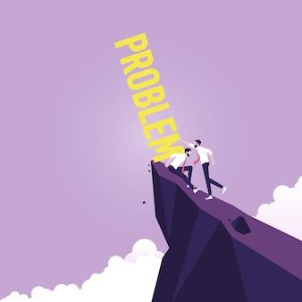 Équipe d'affaires reliant le puzzle symbole du succès