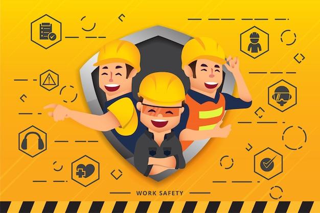 Équipe de construction et ingénieurs